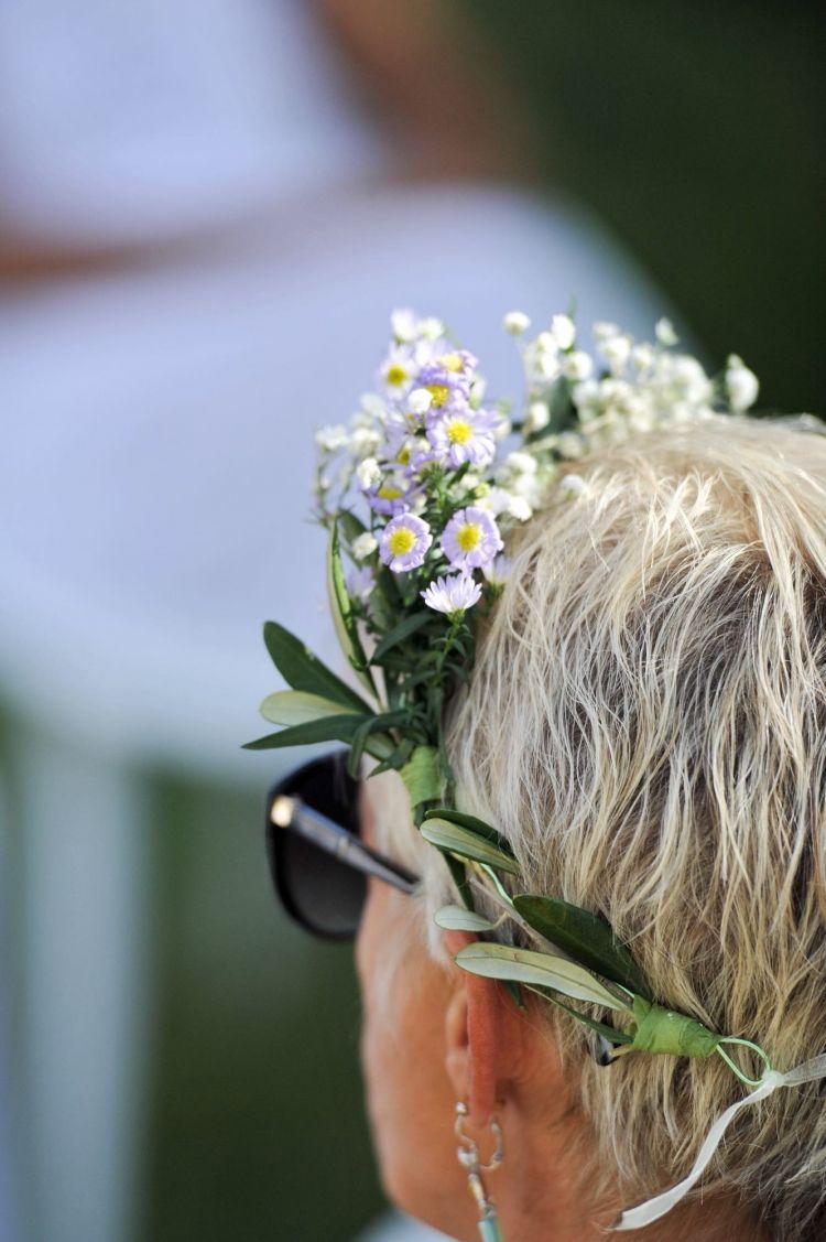 Cadeau d'accueil soirée couronne de fleurs